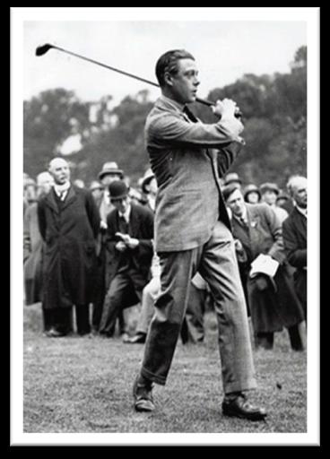 Duke of Windsor golfing in brogues